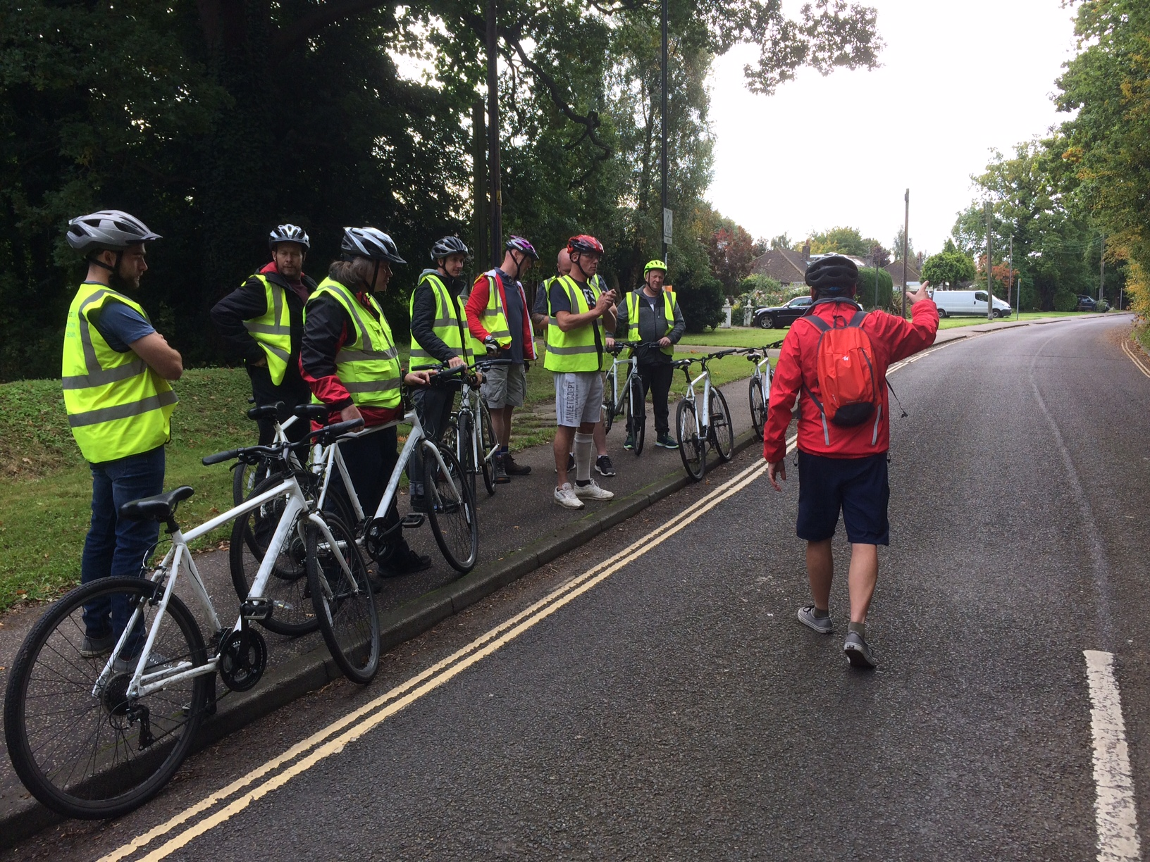 Eezehaul drivers go out on bikes to learn how to share the road safely